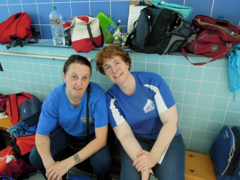 Marion and Zoe... a pair of busy team managers!